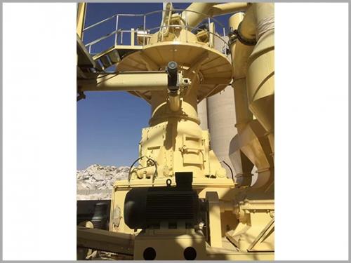 立式磨粉机生产线安装现场展示
